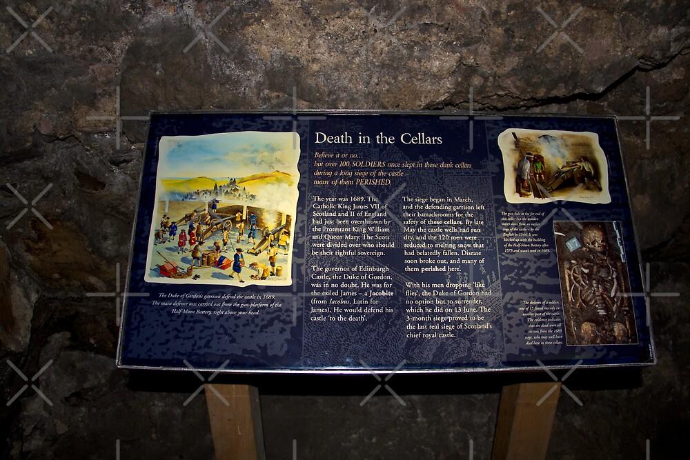 Signboard in the cellars of the Edinburgh Castle by ashishagarwal74