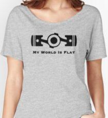 Subaru My World is Flat Women's Relaxed Fit T-Shirt