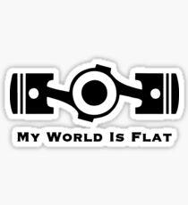 Subaru My World is Flat Sticker