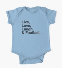 Live , love , laugh and football One Piece - Short Sleeve