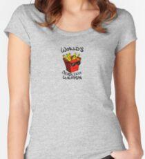 World's Deadliest Weapon (Original) Women's Fitted Scoop T-Shirt