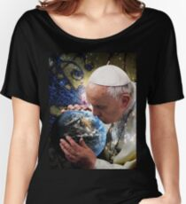 Pope Francis Kissing the Earth Women's Relaxed Fit T-Shirt