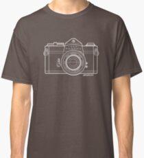 Asahi Pentax 35mm Analog SLR Camera Line Art Graphic White Outline Classic T-Shirt