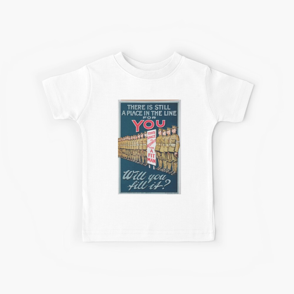 There is still a place in the line for you Will you fill it Kinder T-Shirt