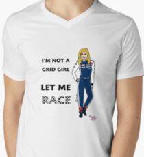 Let Me Race Men's V-Neck T-Shirt
