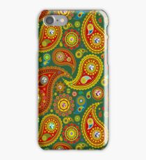 Colorful pastel tones retro paisley pattern iPhone Case/Skin