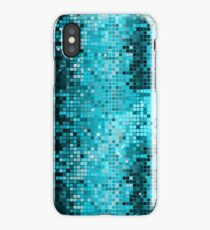 Metallic Turquoise Green Sequins Look-Disco Ball Pattern iPhone Case