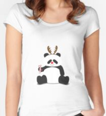 Merry Christmas, Panda! Women's Fitted Scoop T-Shirt
