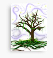 Neon Night Tree Canvas Print