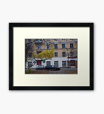 Last yellow leaves before winter Framed Print