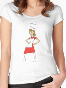 Woman Chef Women's Fitted Scoop T-Shirt