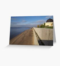 View of sunny embankment Greeting Card
