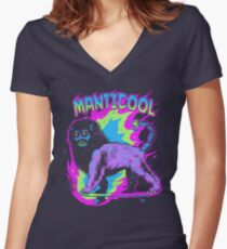 Manticool Women's Fitted V-Neck T-Shirt