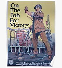 On the job for victory 002 Poster