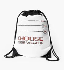 Fencing - Choose your weapon Drawstring Bag