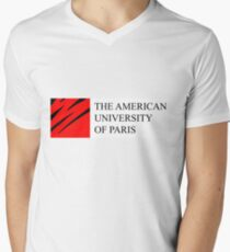 American University of Paris (AUP) Mens V-Neck T-Shirt