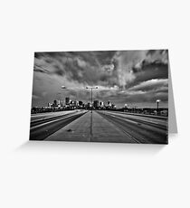 Denver Cityscape B/W Greeting Card