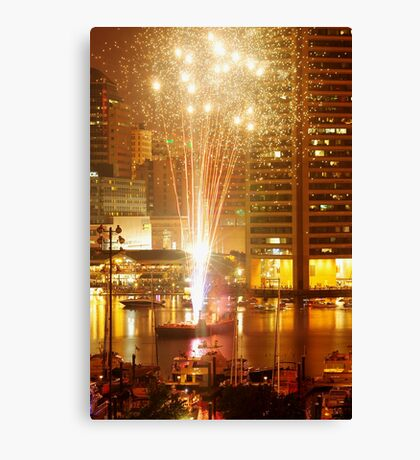 Baltimore Fireworks Canvas Print