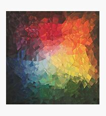 Rainbow Fragments - acrylic smash Photographic Print
