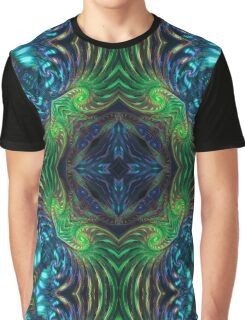 Psychedelic Fractal Manipulation Graphic T-Shirt