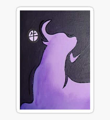 Lilac Year of the Ox Sticker