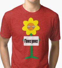 bad ass flower  Tri-blend T-Shirt