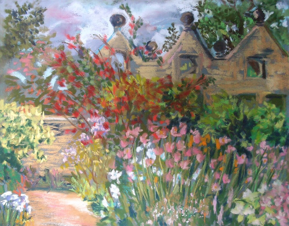 Herbaceous Border at East Riddlesden Hall by Susan Duffey