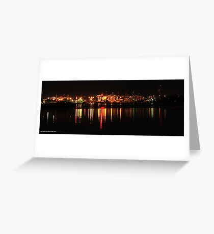 the docks at night (melbourne) 001 Greeting Card