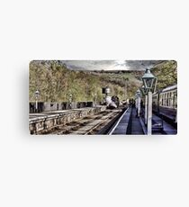 Looking Down The Platform Canvas Print