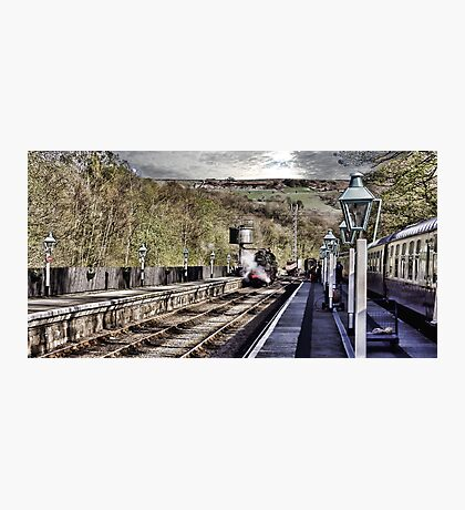 Looking Down The Platform Photographic Print