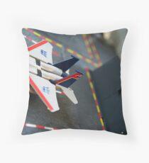 Starscream on the Flagg Throw Pillow