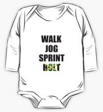 Walk, Jog, Sprint, BOLT! One Piece - Long Sleeve