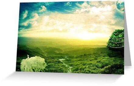 Beautiful fantasy scenery by nishagandhi