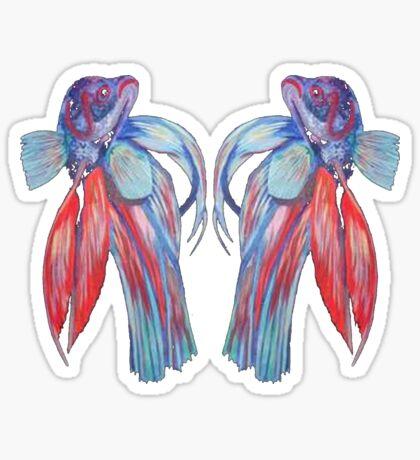 Siamese Fighting Fishes Sticker