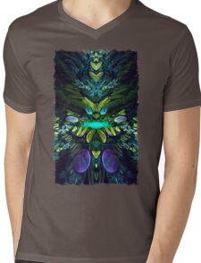 Fractal Fly Mens V-Neck T-Shirt