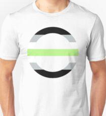 Agender Symbol/Flag Unisex T-Shirt