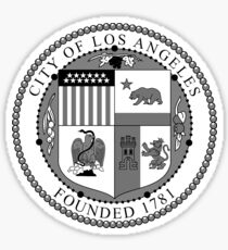 Seal of the City of Los Angeles (B&W) Sticker