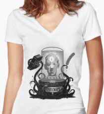 Acursed Inspiration Women's Fitted V-Neck T-Shirt