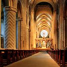 The Nave of Durham Cathedral by Christine Smith
