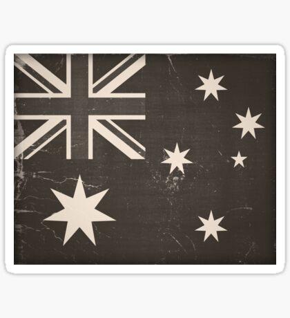 Old Australia Flag Sticker
