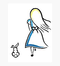 Alice and the White Rabbit Photographic Print