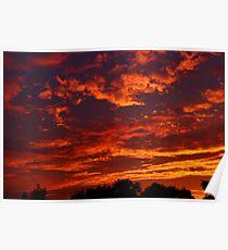 Spectacular Evening Sky Poster