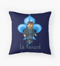Le Renard Throw Pillow