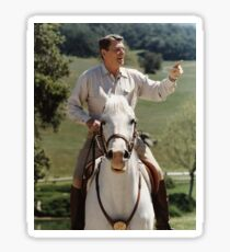 Pegatina Ronald Reagan a caballo