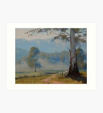 Valley Gum Tree Art Print