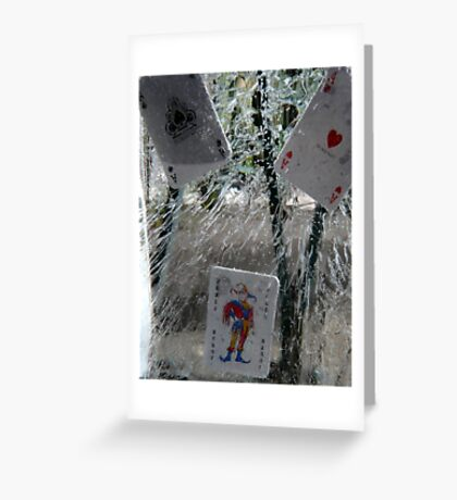 Ice Cards Greeting Card