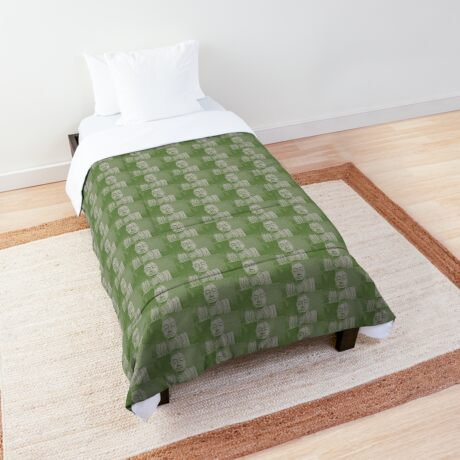 Karma in green Comforter