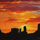 Canyon Sunset Monument Valley by Graham Gercken