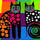 Colourful cats 53 by Karin Zeller
