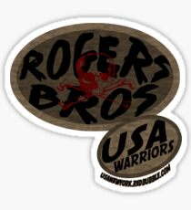 rogers bros warriors skull by ian rogers Sticker